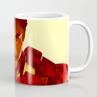 robert downey jr Mugs featuring Iron Man *** by Hands in the Sky