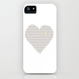 Penis at heart iPhone Case
