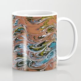 Marble Abstract In Red Coffee Mug