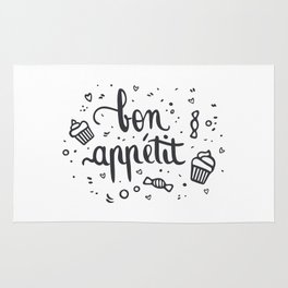 Bon appétit - calligrapy Rug