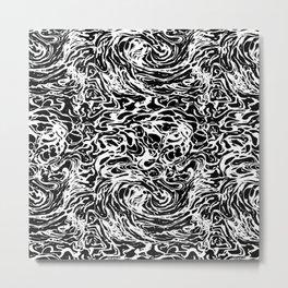 BLACK HUFF Metal Print