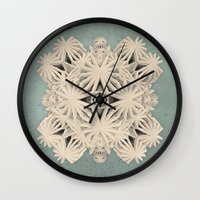 cyberpunk Wall Clocks featuring Ancient Calaabachti Filigrane by Obvious Warrior