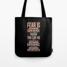 Lab No. 4 Fear Is The Result Dale Carnegie Inspirational Quotes Tote Bag