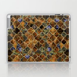 Quatrefoil Moroccan Pattern Brown Labradorite Laptop & iPad Skin
