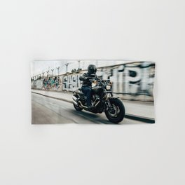 Street Rider - Fine Art Print Hand & Bath Towel