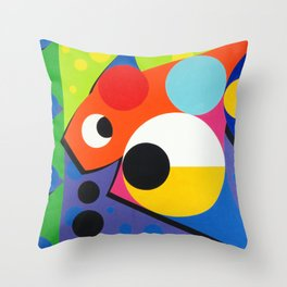 Fish - Paint Throw Pillow