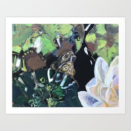 Frogs in Love Art Print