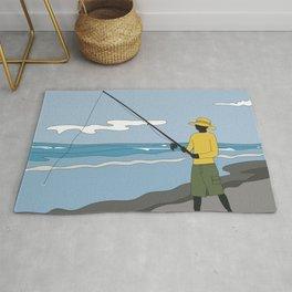 Beach Fishing#3 Rug