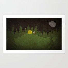 Camping Scene Art Print