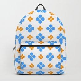 geometric flower 49 blue and orange Backpack