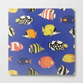 Exotic School Of Reef Fish Metal Print
