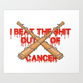 beating cancer Art Print