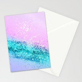 Summer Unicorn Girls Glitter #1 #shiny #decor #art #society6 Stationery Cards