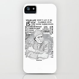 "Charles Bukowski ""The Laughing Heart"" Illustration iPhone Case"