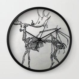 Elk skeleton Wall Clock