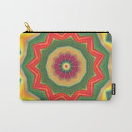 mandala yellow/green Carry-All Pouch