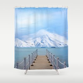 Meet me in the middle Shower Curtain