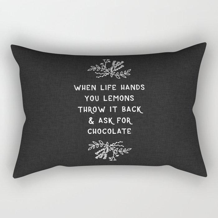 When Life Hands You Lemons BW Rectangular Pillow