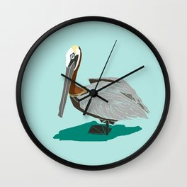 Mr. Pelican Wall Clock