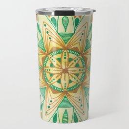 Simple Green/Yellow Mandala Travel Mug