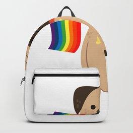 LGBT Gay Pride Flag Pug - Pride Gay Backpack