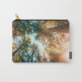 California Redwoods Sun-rays and Sky Carry-All Pouch