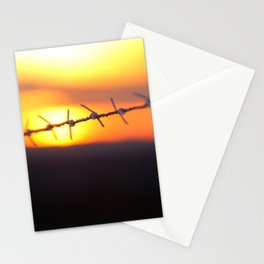 Spiked sunset Stationery Cards