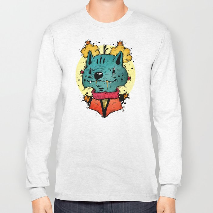 Wolfy (Color Version) Long Sleeve T-shirt