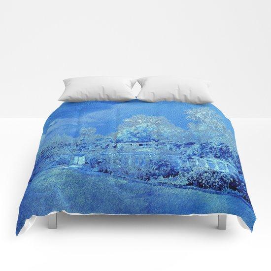 Wedgewood Blue English Garden Comforters