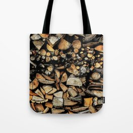 Cool wooden cut piece texture Tote Bag