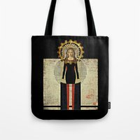 madonna Tote Bags featuring Renaissance Madonna by Studio Judith
