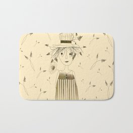 Betty Lou In Wheat Bath Mat