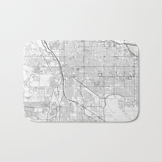 Tucson Map Line Bath Mat
