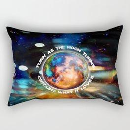 Turn As The Moon Turns Rectangular Pillow