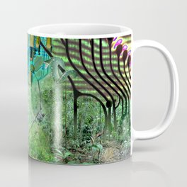 Digital Circuit Jungle Tree, creatures of the electronic age Coffee Mug