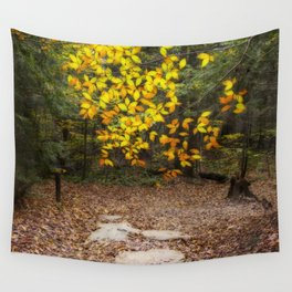 Autumn Trail Wall Tapestry