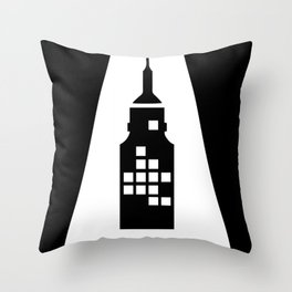 Artcotechsure: The A (black) Throw Pillow
