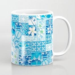 New Hawaiin Motif in Blue Coffee Mug