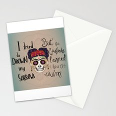 Frida Kahlo - Just keep Swimming Stationery Cards