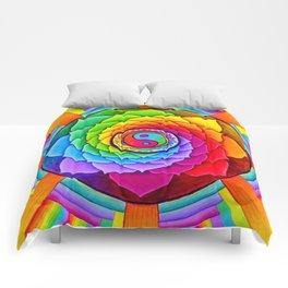 Healing Lotus Rainbow Yin Yang Mandala Comforters
