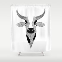 cow Shower Curtains featuring Cow by Art & Be