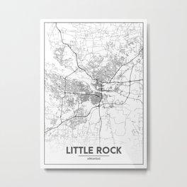 Minimal City Maps - Map Of Little Rock, Arkansas, United States Metal Print