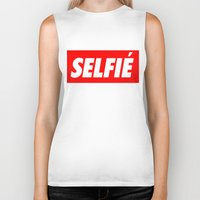 selfie Biker Tanks featuring Selfie by Poppo Inc.