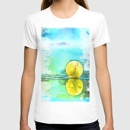 Tennis Ball On Court Reflection. For Tennis Lovers T-shirt
