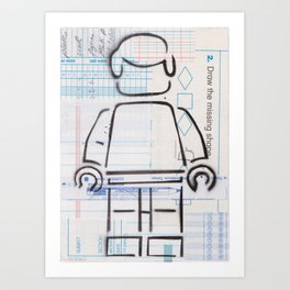 Multiple Choice - Lost & Found Series Art Print