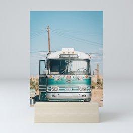 Bombay Beach Bus Mini Art Print