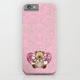 Teddy Bear Angel iPhone Case