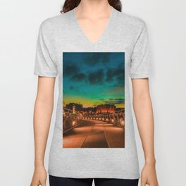Derry Peace Bridge by Zolita Mykytyn Unisex V-Neck
