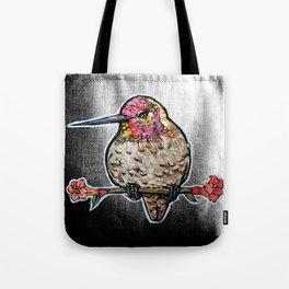 L'il Lard Butt Ruby Throated Hummingbird Tote Bag