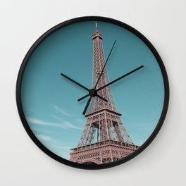 paris, france, eiffel tower Wall Clock
